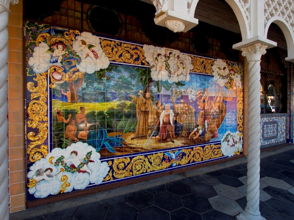Mosaic Tile Mural outside of the Columbia Restaurant in Ybor City