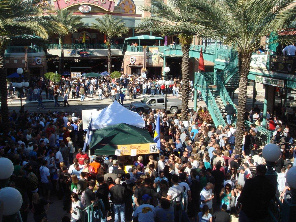 Crowd of people in Centro Ybor for Beerfest
