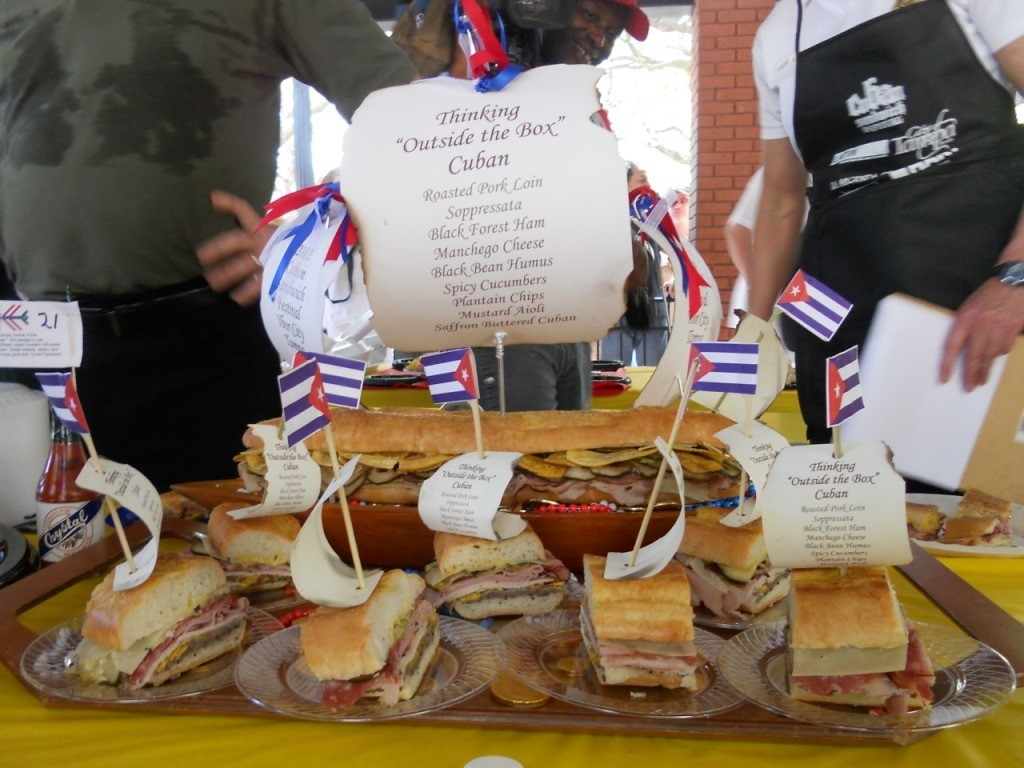 cuban sandwichs in cooking competition
