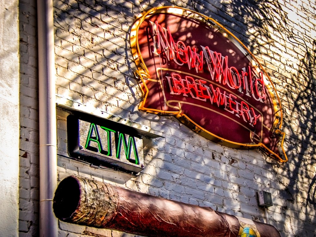 New World Brewery's outdoor sign
