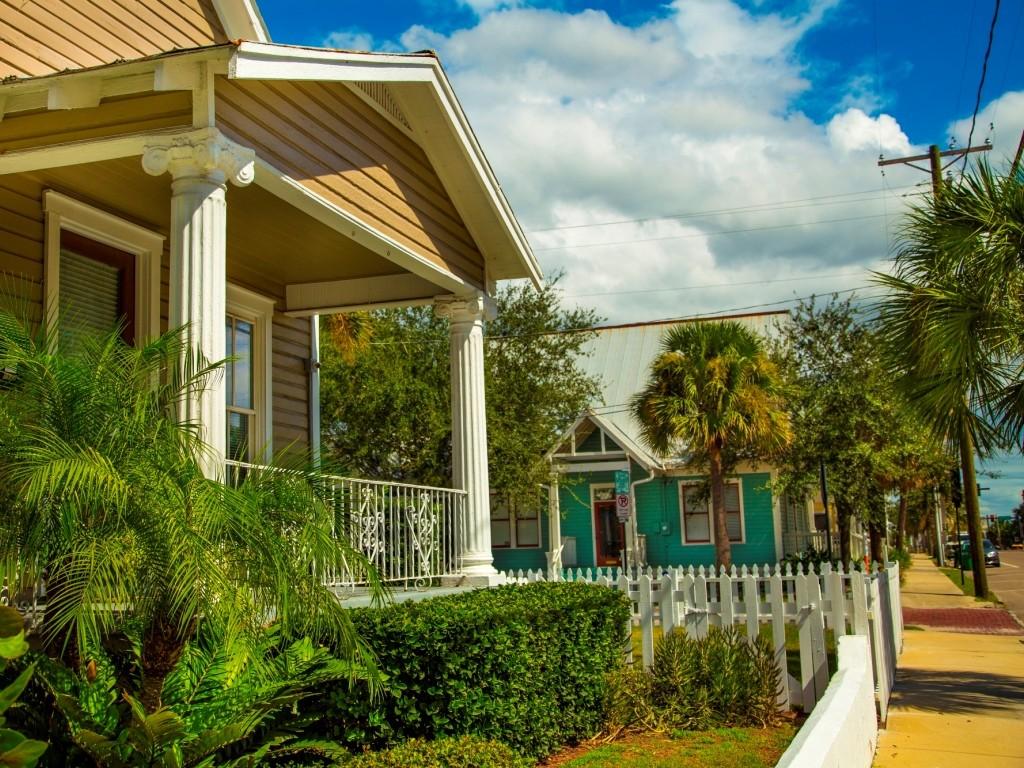 exterior of historic ybor home