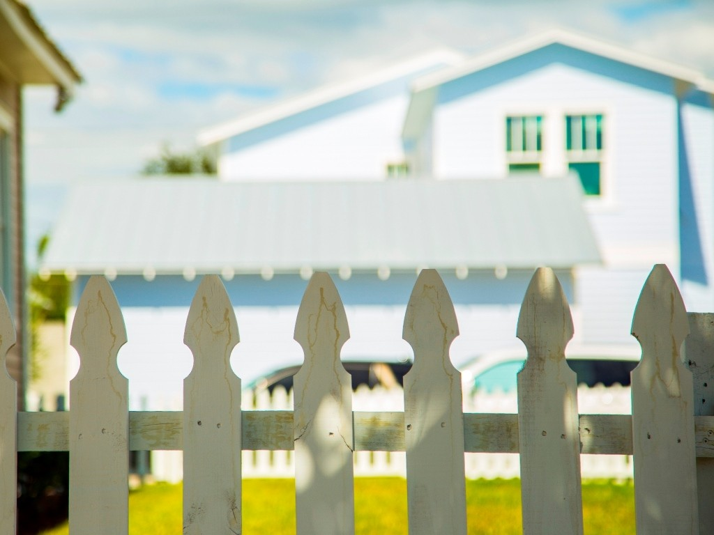 white picket fence at an historic ybor casita