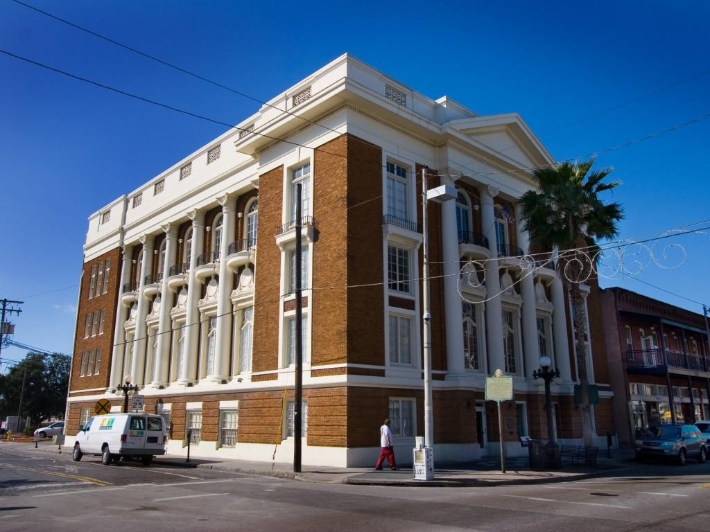 Large three story historic brick building