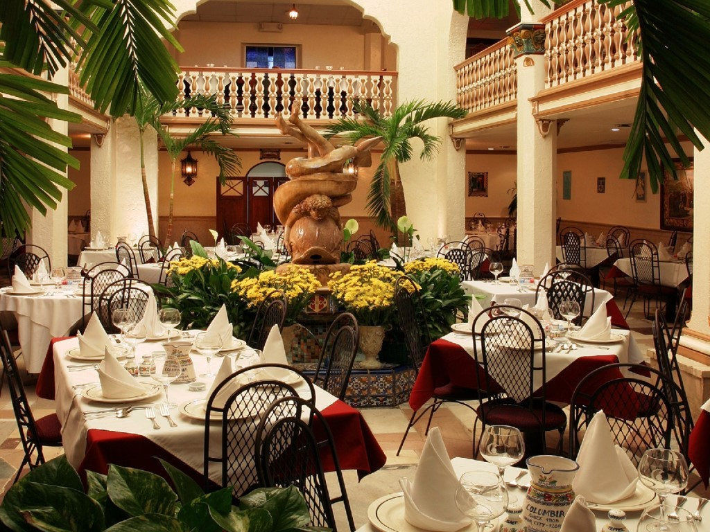 The Columbia in Ybor City boast 12 dining rooms including the stunning Patio