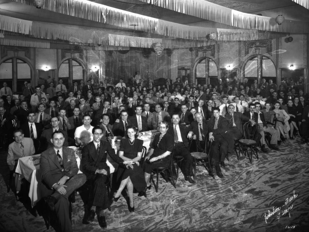 Old banquet photo in the historic El Centro Espanol Building