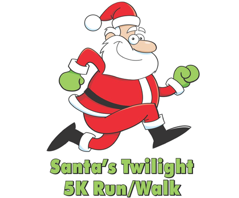 Logo for Santa's Twilight 5K Run/Walk