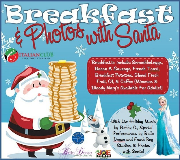 Come out to Breakfast and photos with Santa at the Italian Club this December 4th