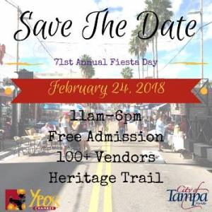 71st Fiesta Day February 24, 2018 from 11 am to 6 pm in Ybor City