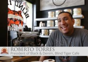 Entrepreneur Roberto Torres At his Coffee Shop the Blind Tiger in Ybor City