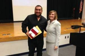 Roberto Torres and Kathy Castor during American Dream Awards ceremony
