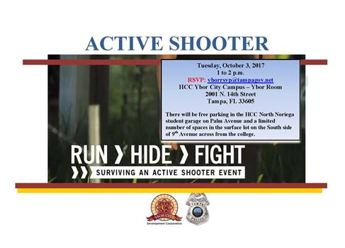 Active Shooter Training for Surviving an active shooter event