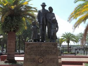 Immigrant Statue in Ybor City's Centennial Park