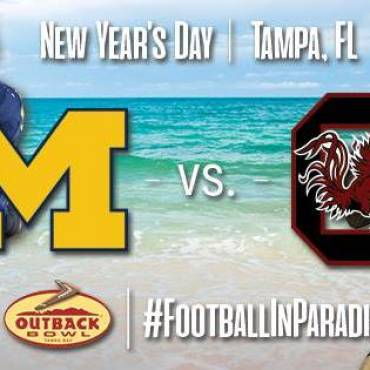Outback Bowl to Pit the Michigan Wolverines Against the South Carolina Gamecocks