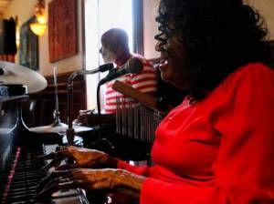 Ybor City's Kitty Daniels Performing with her drummer Majid Shabazz at Donatello Italian Restaurant