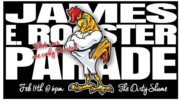 James E Rooster Parade on Fat Tuesday February 13, 2018 starting at The Dirty Shame in Ybor City