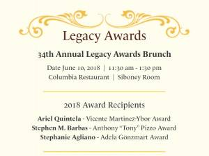 Ybor City Museum Society 2018 Legacy Awards