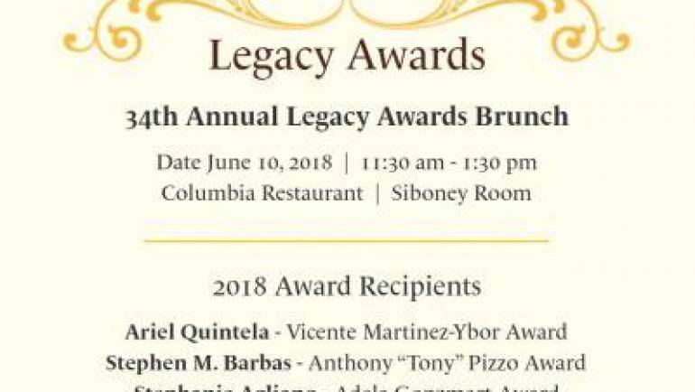 Old-line Members of Ybor City Families to be Honored at This Year's Legacy Awards