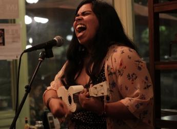 Singer Songwriter at the Red Light Cafe Spotlight Open Mic held every Thursday in Ybor City's The Bunker