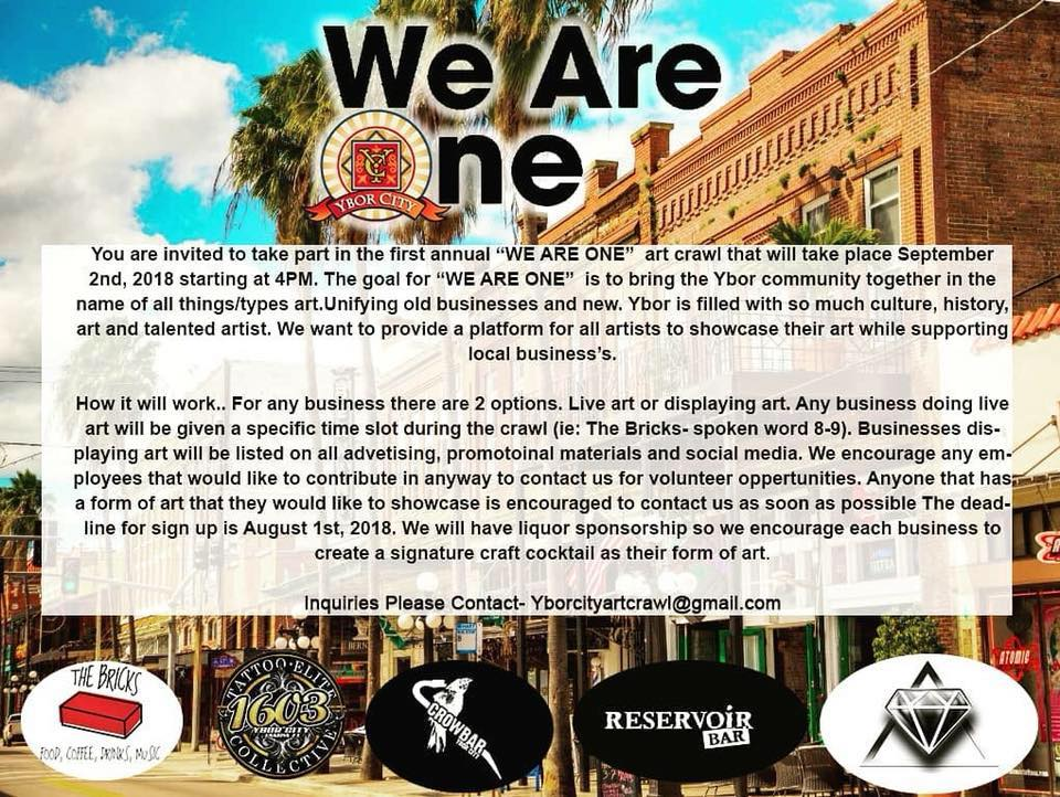 We are One Art Crawl in Ybor City