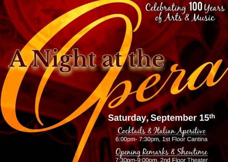 Italian Club's 100 year Anniversary Celebration: A Night At The Opera