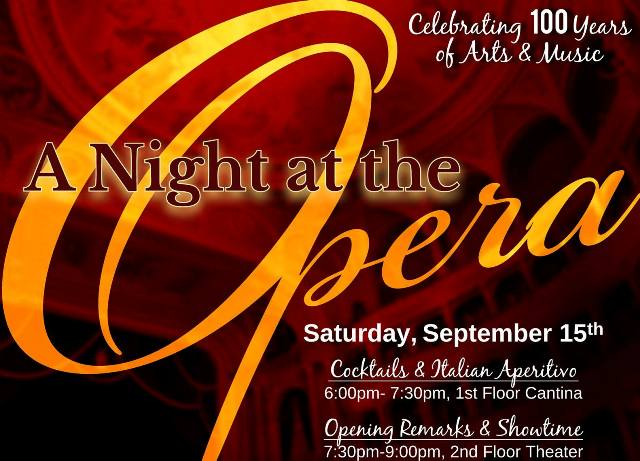 Italian Club's 100 year Anniversary Celebration A Night At The Opera