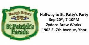 Rough Riders St Patricks Day Party in September