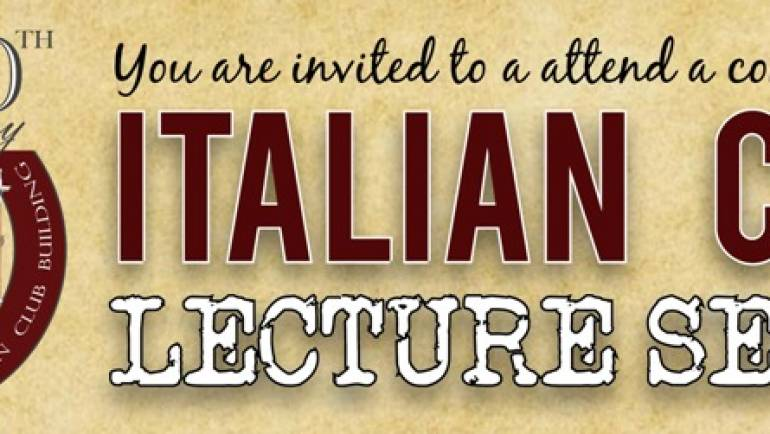 The Italian Club Lecture Series