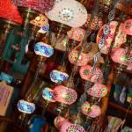 embellished lights in a shop