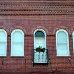 windows in a brick wall