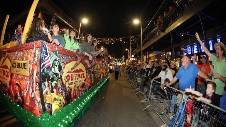 Outback Bowl New Year's Eve Parade & Pep Rally