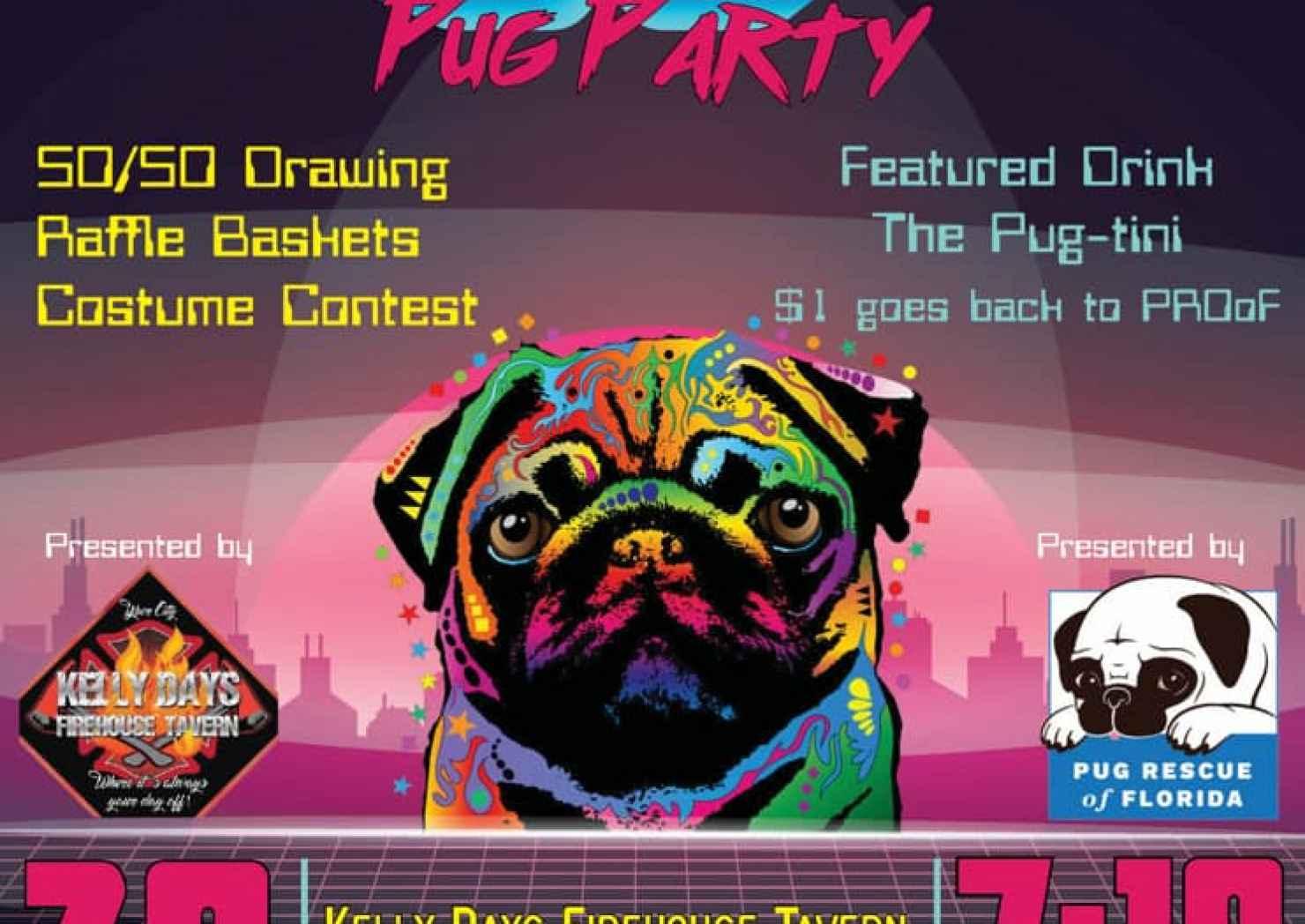 80's Night Fundraiser Pug Rescue of Florida