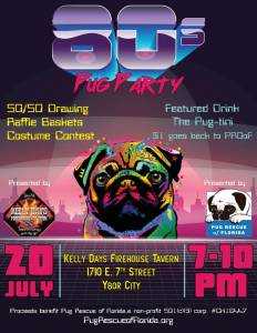 80s Pug Party