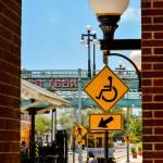 pedestrian crossing signs at streetcar stop