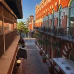 path between two buildings in centro ybor