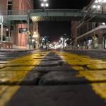 close up of brick road