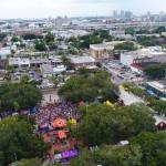 Aerial view of event in park in ybor