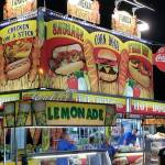 Lemonade, Sausage and Corn Dog food stand at event