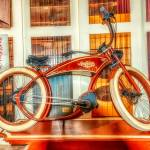"""the Ruffian"" Bicycle in a museum"