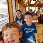 kids riding on the streetcar