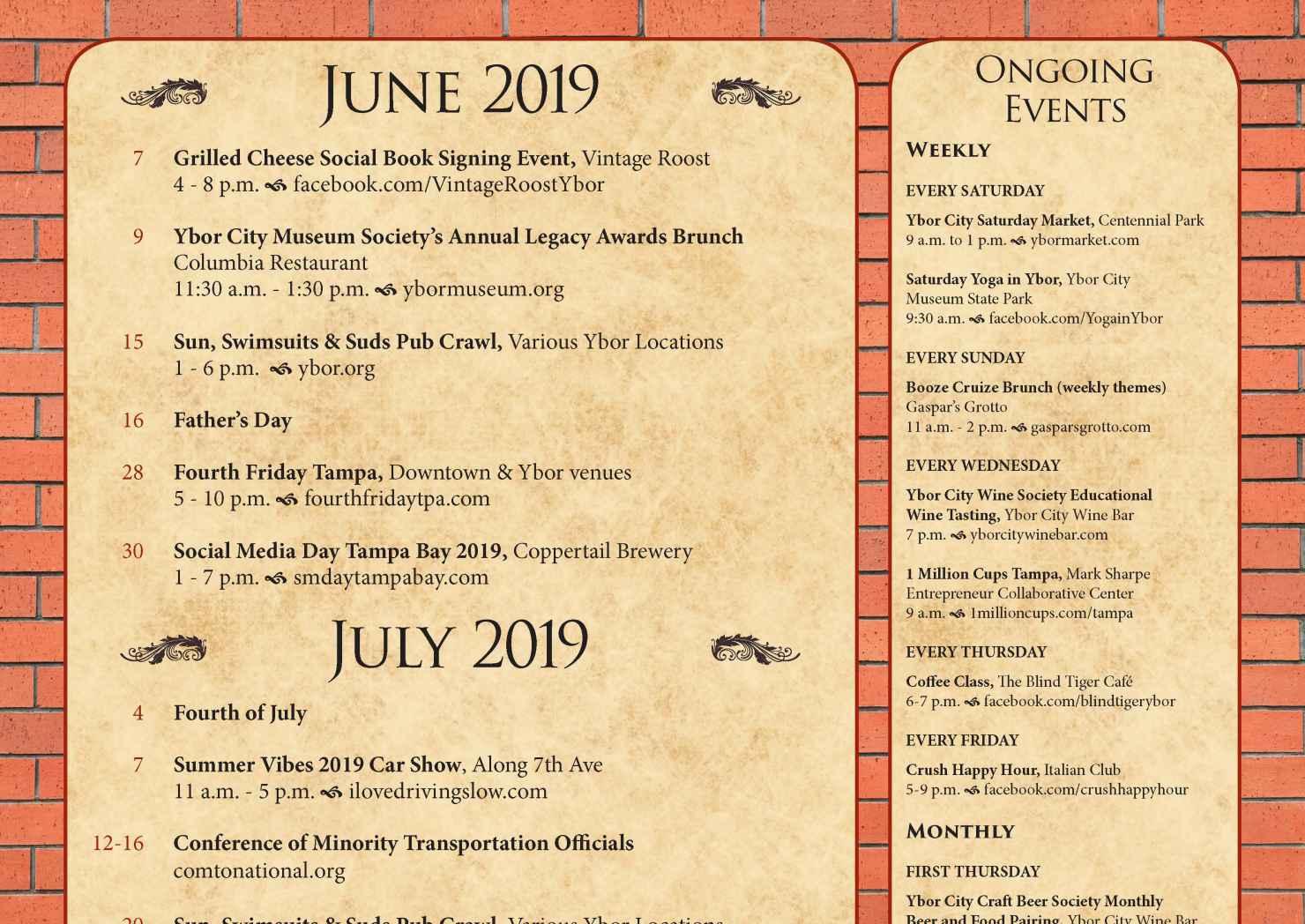 Ybor City Summer Calendar of Events