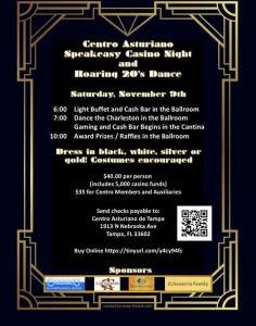 Centro Asturiano Speakeasy Casino Night and Roaring 20s Dance
