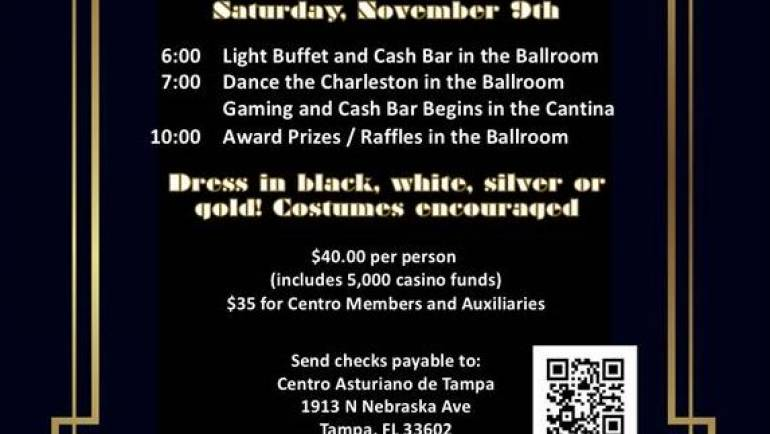 Centro Asturiano Speakeasy Casino Night and Roaring 20's Dance
