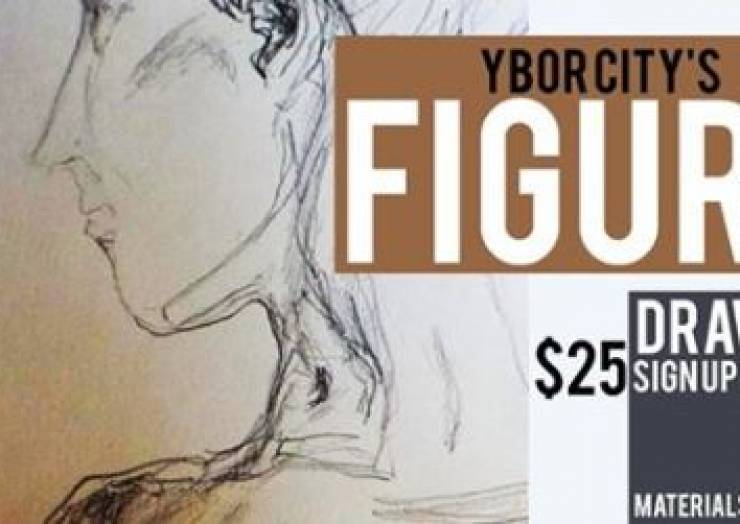 Ybor City's Figure Drawing Instructed by Claire Fenlon May