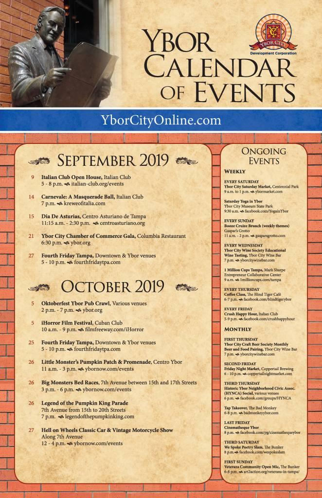 Ybor Calendar- September & October